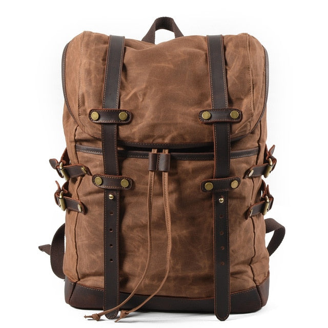 Canvas bag leisure backpack