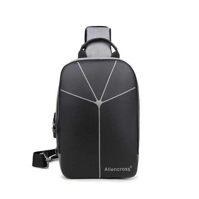 Anti Theft Men Crossbody Bags Oxford USB Charging