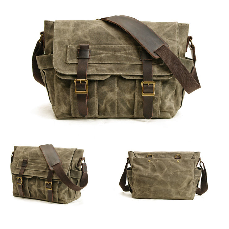 Classic Tooling Shoulder Bag Canvas