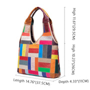 Womens Handbags Genuine Leather Totes Patchwork Designer Bags