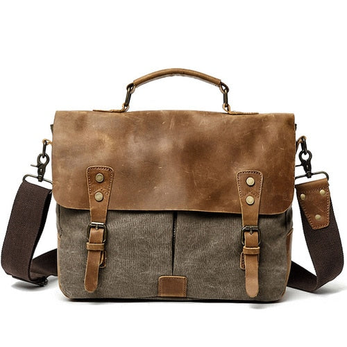 Vintage Men's Canvas Crazy Horse