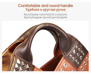 Cobbler Legend Vintage Women Handbag Rivet