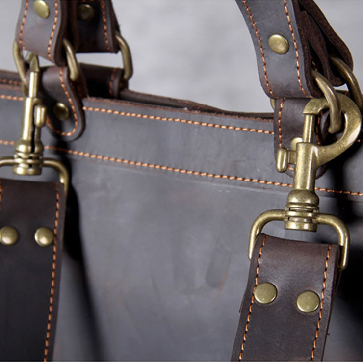 Vintage mad horse leather shoulder bag