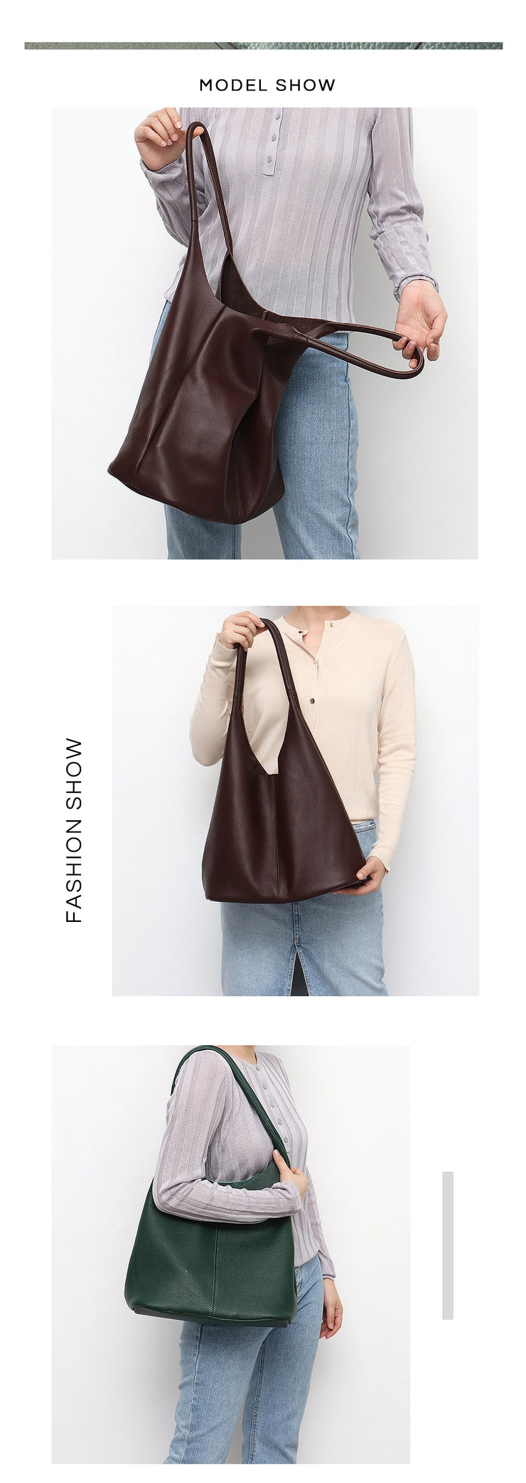 High Quality Italian Leather Women Shoulder Bags