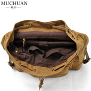 Canvas bag with leather