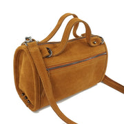 Suede Genuine Leather Rivet Shoulder Bag Crossbody Bag