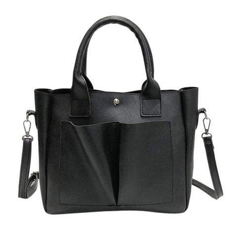 Retro style Women's Leather Shoulder Bags With - 1 - Canvas_Tote_2020