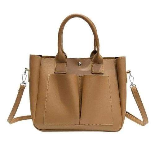 Retro style Women's Leather Shoulder Bags With - 2 - Canvas_Tote_2020