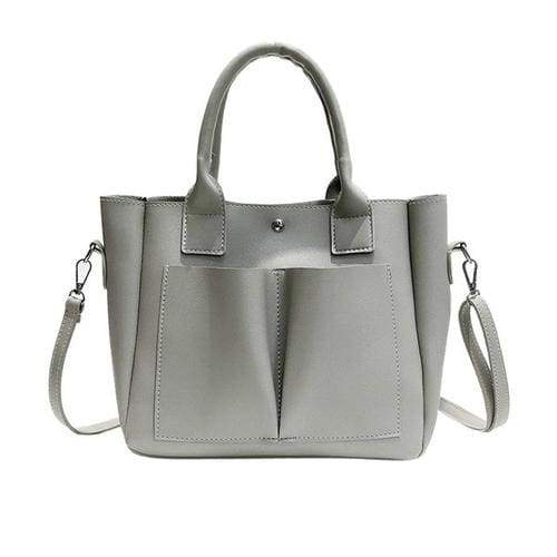 Retro style Women's Leather Shoulder Bags With - 3 - Canvas_Tote_2020