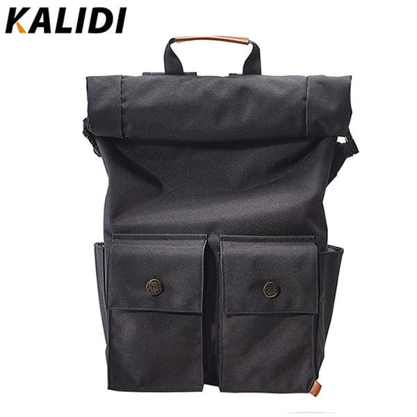 Roll-top closure laptop backpack rucksack - Black / 15 - Backpacp_Oct