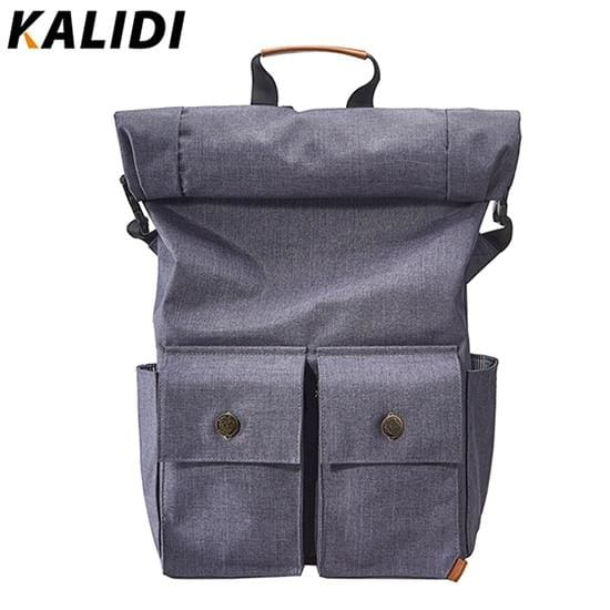 Roll-top closure laptop backpack rucksack - Blue / 15 - Backpacp_Oct