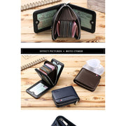 Short Zipper Black Wallets - wallet