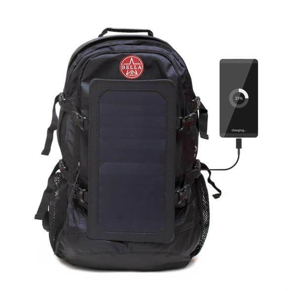Solar Backpack 45L with Power Bank 6.5W 6V color Black - Solar backpacks with power bank