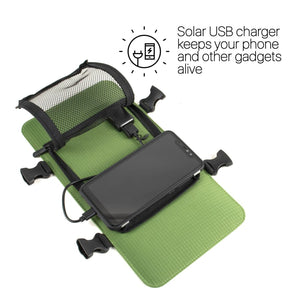 Solar Backpack 45L with power bank 6.5W 6V color Light Green - Solar backpack