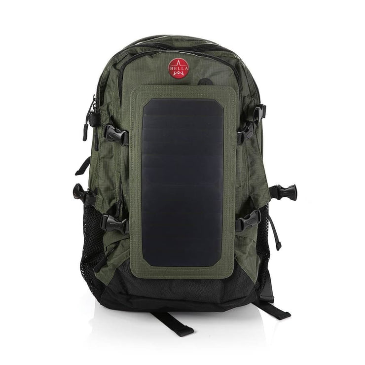 Solar Backpack 45L with Power Bank 6.5W color Olive Green - Solar backpack