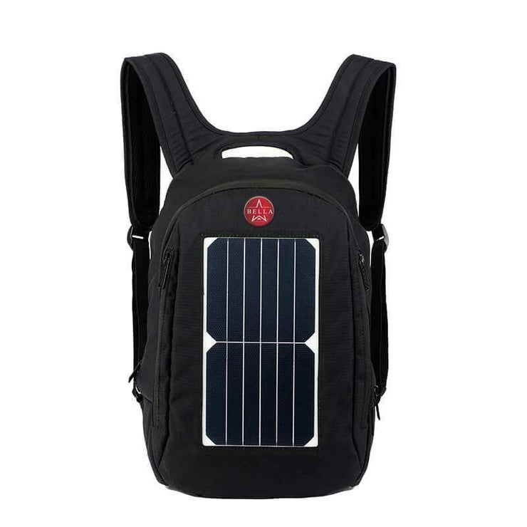Solar Charger Backpack 35L with Power Bank Charger 6.5W Black - Solar backpack