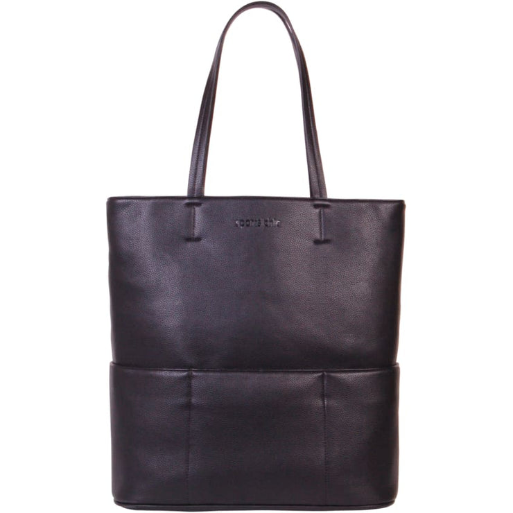 Sports Chic Women's Vegan Tote Bag - Black Moon - Canvas_Tote_2020