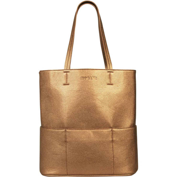 Sports Chic Women's Vegan Tote Bag - Metallic Bronze - Canvas_Tote_2020