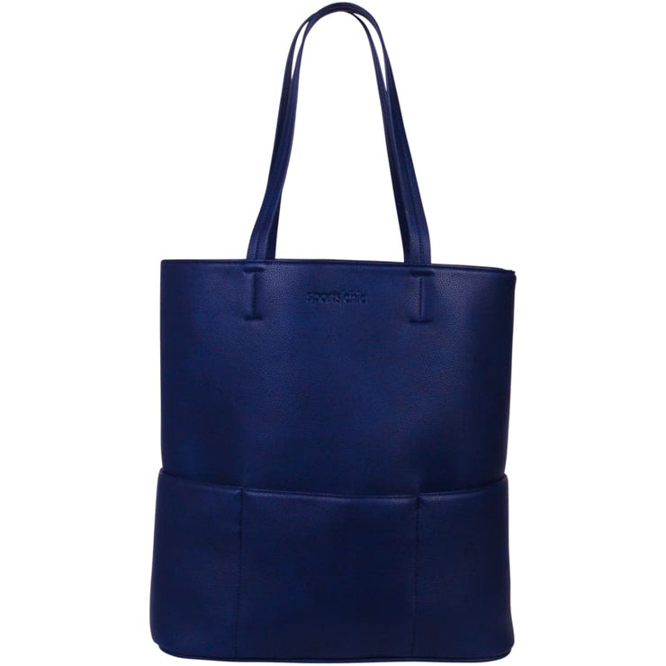 Sports Chic Women's Vegan Tote Bag - Midnight Blue - Canvas_Tote_2020