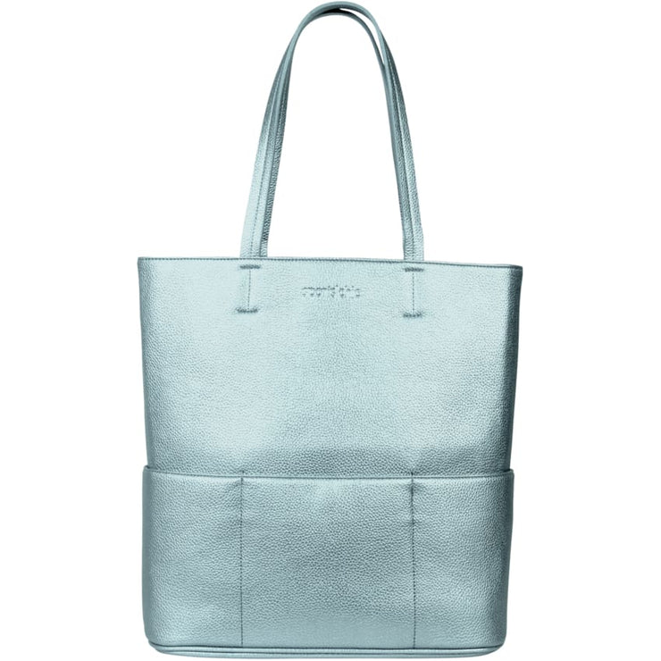 Sports Chic Women's Vegan Tote Bag - Sunrise Blue - Canvas_Tote_2020