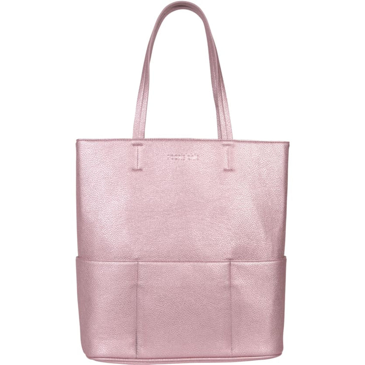 Sports Chic Women's Vegan Tote Bag - Sunset Pink - Canvas_Tote_2020