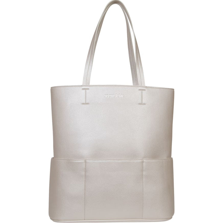 Sports Chic Women's Vegan Tote Bag - Titanium White - Canvas_Tote_2020