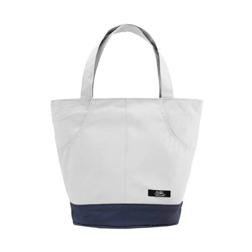 Thermal Insulated Tote Picnic Lunch Cool Bag - White - Canvas_Tote_2020
