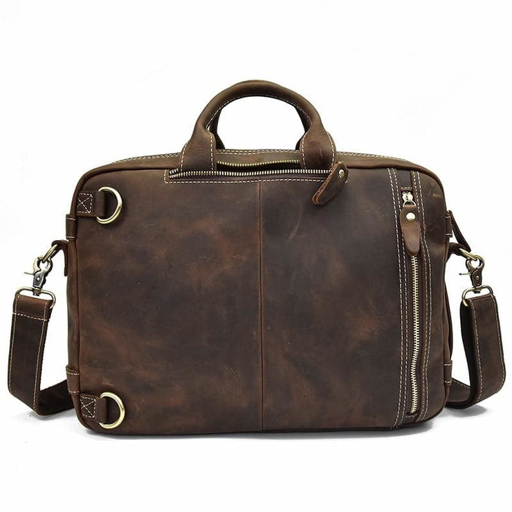 Thick crazy horse leather travel bag - Men_Briefcase