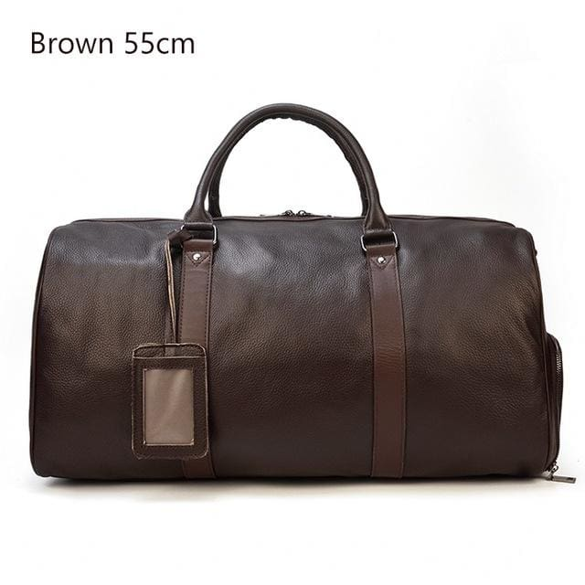 Travel Bags Waterproof Mens Leather - Brown(55cm) / China - Men_Briefcase
