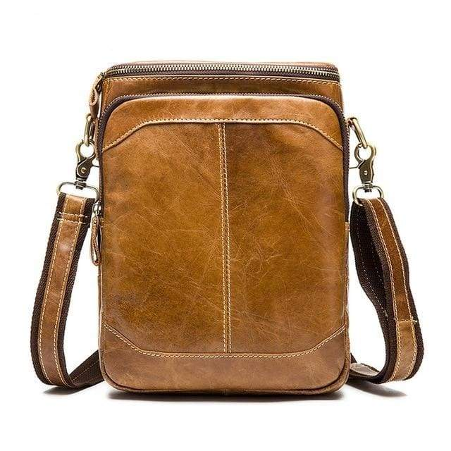 WESTAL Leather Casual Crossbody Bags - 8003brown / CHINA