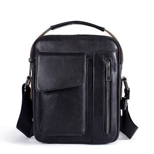 WESTAL Leather Casual Crossbody Bags - 8211black / CHINA