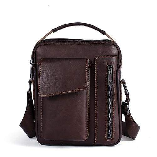 WESTAL Leather Casual Crossbody Bags - 8211coffee / CHINA