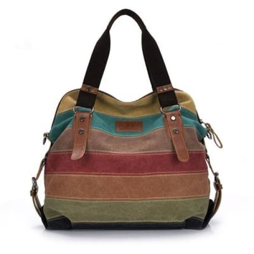 Woman patchwork handbag canvas bag - Canvas_Tote_2020