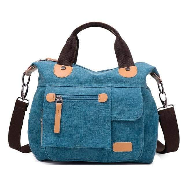 Women bag canvas messenger bags - Blue / (20cm<Max Length<30cm) - Canvas_Tote_2020
