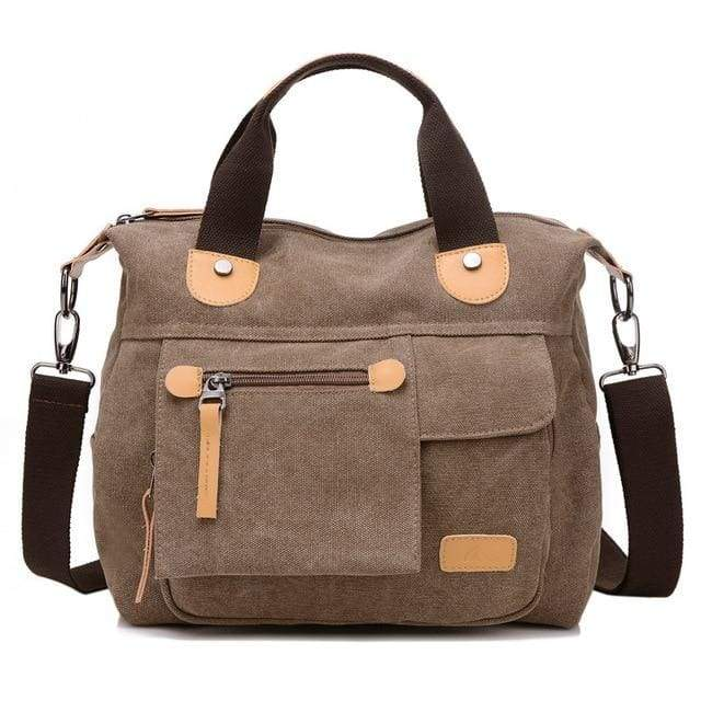 Women bag canvas messenger bags - Brown / (20cm<Max Length<30cm) - Canvas_Tote_2020