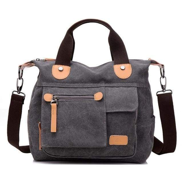 Women bag canvas messenger bags - Gray / (20cm<Max Length<30cm) - Canvas_Tote_2020