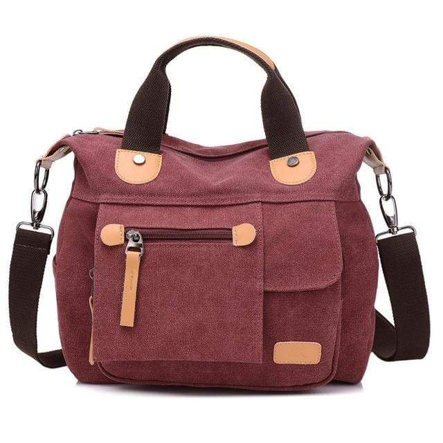 Women bag canvas messenger bags - Purple / (20cm<Max Length<30cm) - Canvas_Tote_2020
