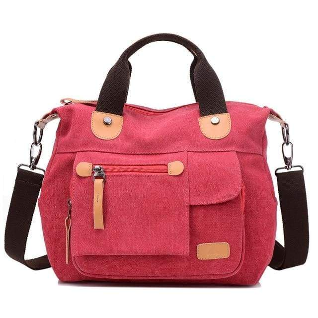 Women bag canvas messenger bags - Red / (20cm<Max Length<30cm) - Canvas_Tote_2020
