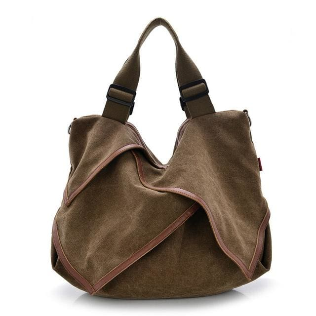 Women bag Canvas Tote crossbody - coffee - Canvas_Tote_2020