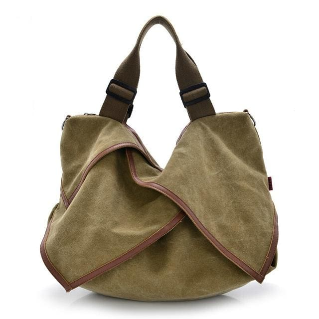 Women bag Canvas Tote crossbody - khaki - Canvas_Tote_2020