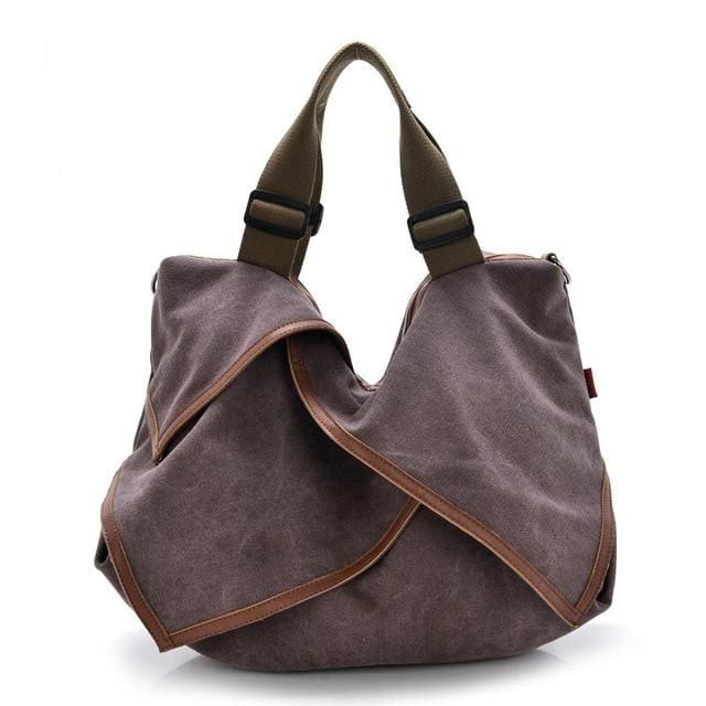 Women bag Canvas Tote crossbody - light purple - Canvas_Tote_2020