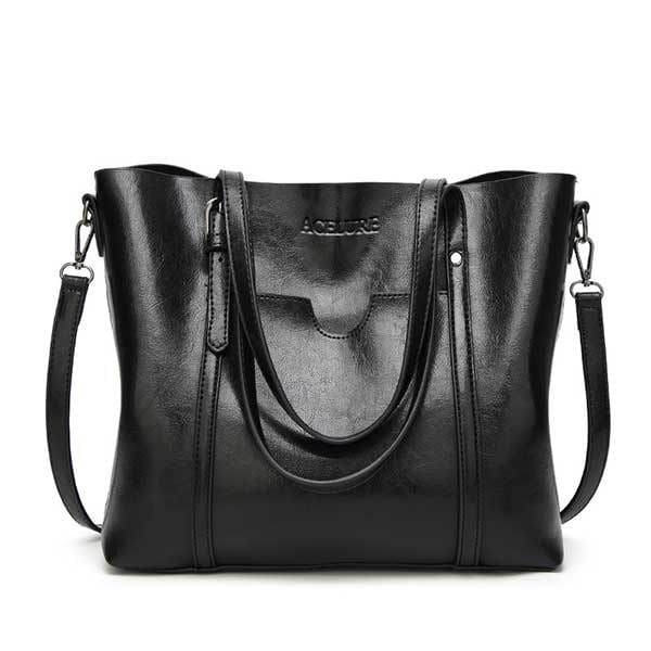 Women bag oil wax - black - Women_Bags
