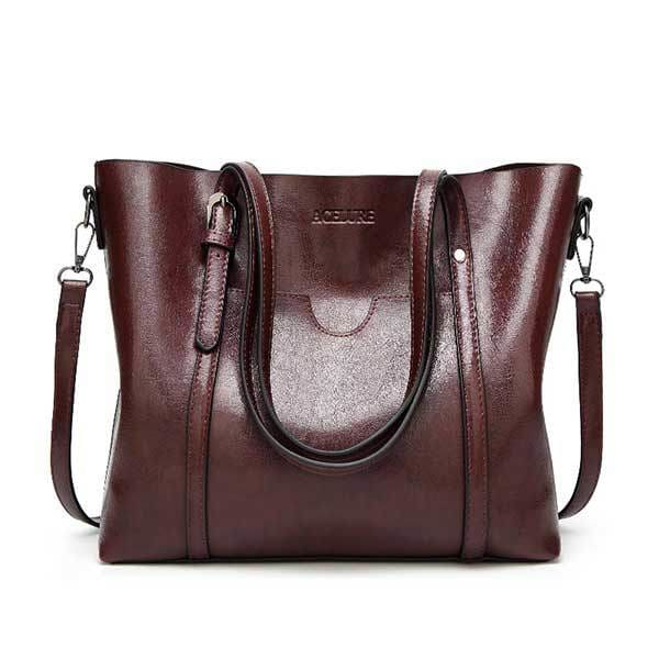 Women bag oil wax - coffee - Women_Bags
