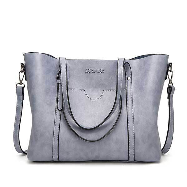 Women bag oil wax - Light blue - Women_Bags