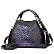 Women Bags Designer Fashion Crocodile Pattern - Blue Purple Two - Canvas_Tote_2020