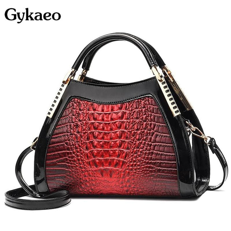Women Bags Designer Fashion Crocodile Pattern - Canvas_Tote_2020