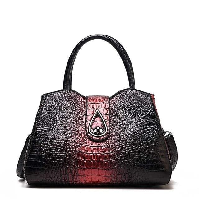 Women Bags Designer Fashion Crocodile Pattern - Red Three - Canvas_Tote_2020