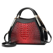 Women Bags Designer Fashion Crocodile Pattern - Red Two - Canvas_Tote_2020