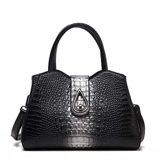 Women Bags Designer Fashion Crocodile Pattern - Silver Three - Canvas_Tote_2020