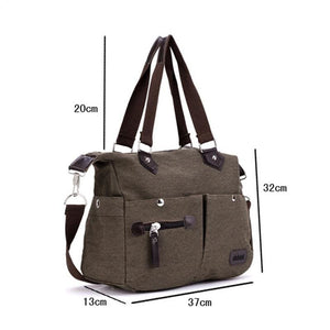Women canvas large capacity luggage bag - Canvas_Tote_2020